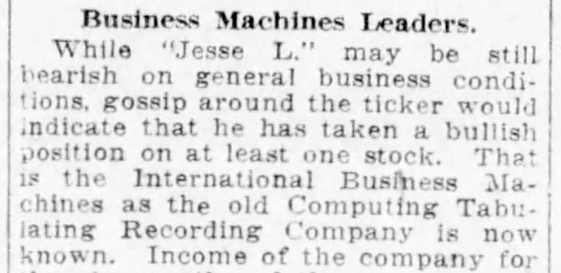 Jesse Livermore might have been most famous for being a bear. But through some research, I found out that there was one stock he loved to own.