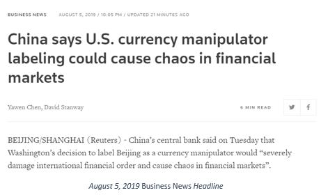 China's Yuan Manipulation causes chaos