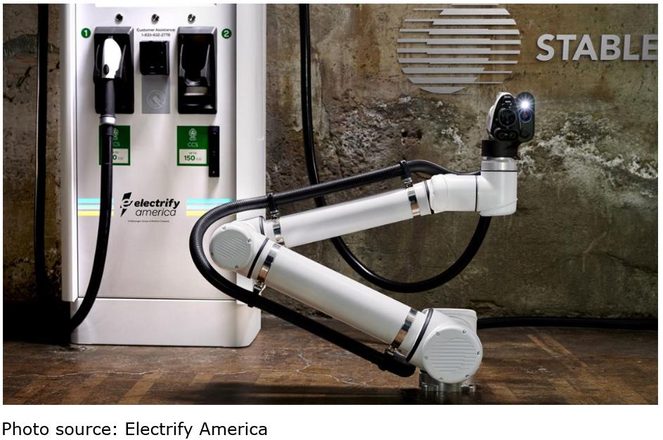 robots pumping gas