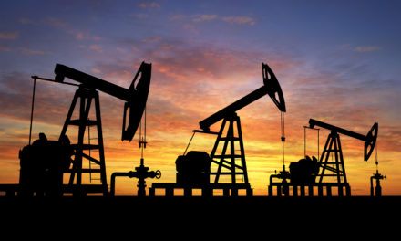 oil crisis and oil derricks