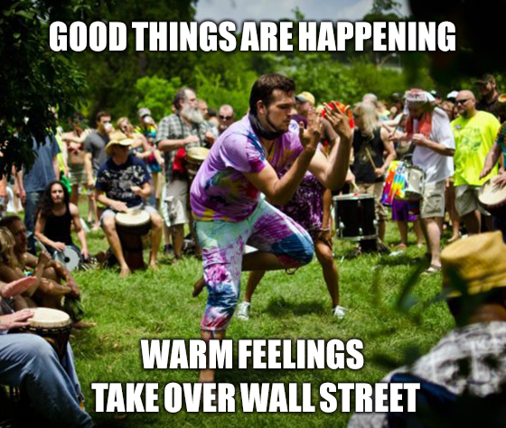 """We've got """"warmer feelings"""" and """"good things"""" happening with China. We all need to take a moment, put some flowers in our hair, sit down in a drum circle and sing """"Kumbaya."""""""