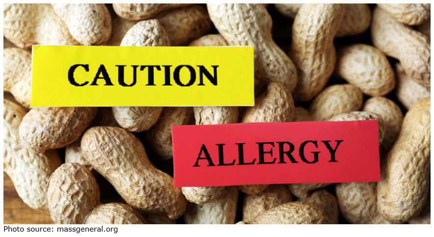 Caution Peanut Allergy