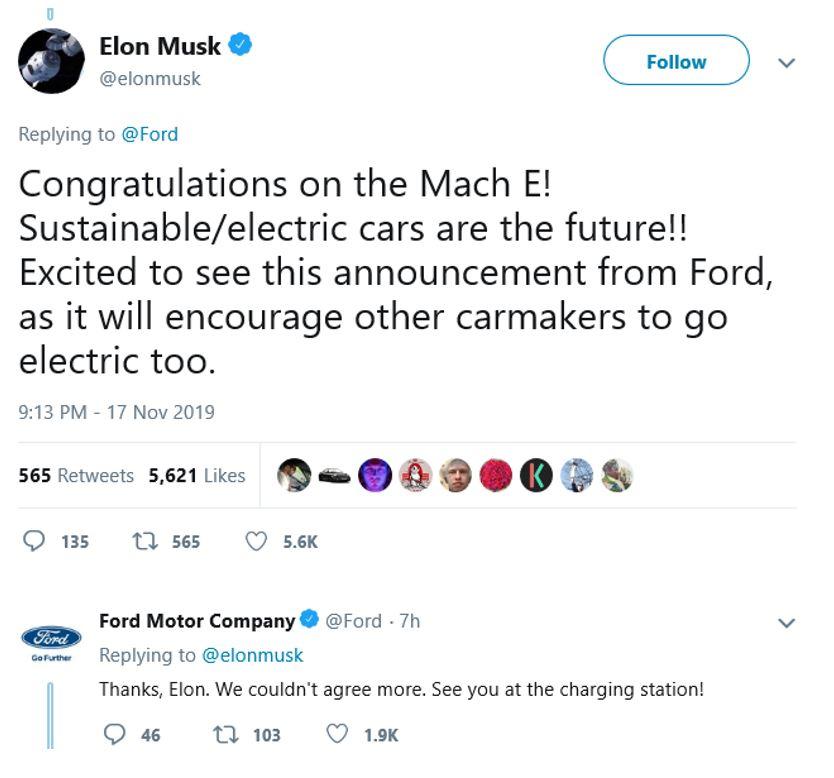 Elon Musk Ford Tweet