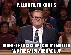 Discount department store Kohl's Inc. (NYSE: KSS) is getting blasted today after it missed earnings expectations and cut guidance.