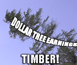 Shares of Dollar Tree Inc. (DLTR) are falling hard today after the company missed earnings targets and guided lower.