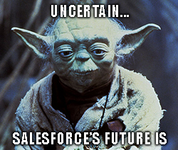 Salesforce (CRM) put 2021 revenue projections below the consensus estimate. How far below? About $500 million.