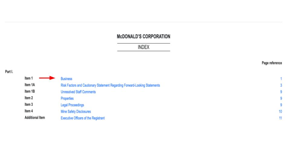 MacDonald's Corporate Document