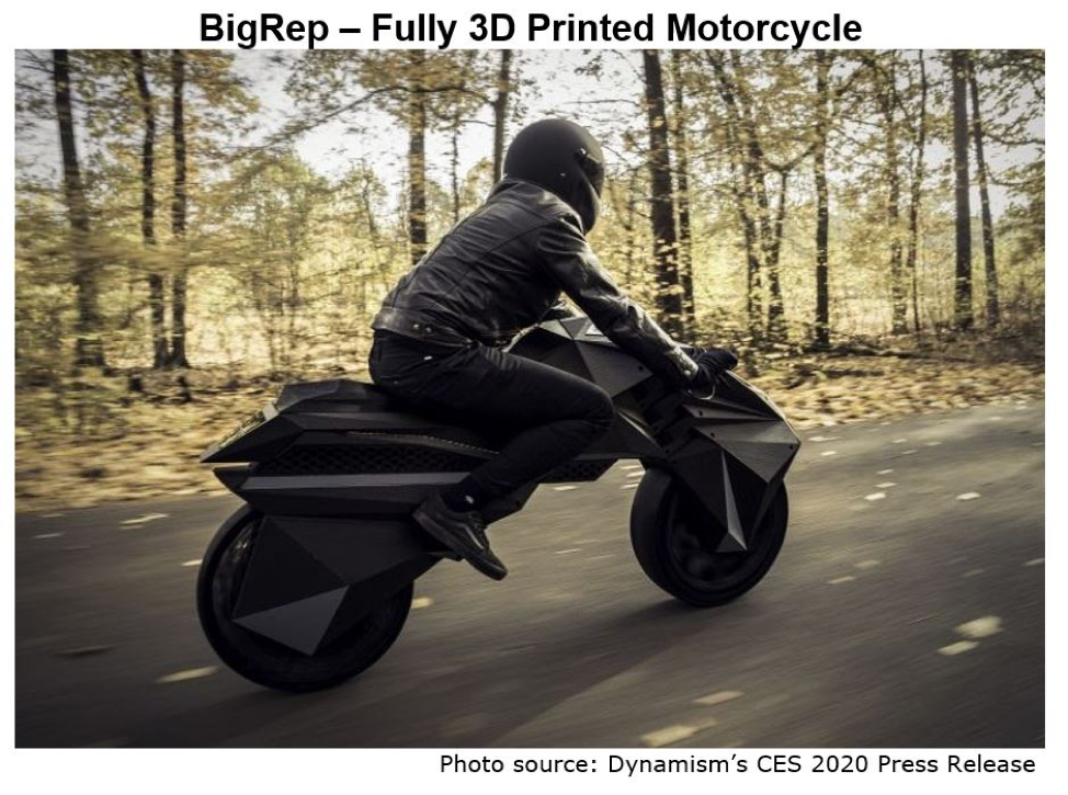 BigRep 3D Printed Motorcyle