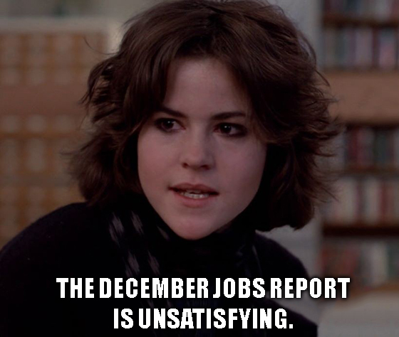 December's jobs data was uninspiring. Luckily, Boeing had some spare clowns and monkeys to liven up Wall Street ahead of the weekend.