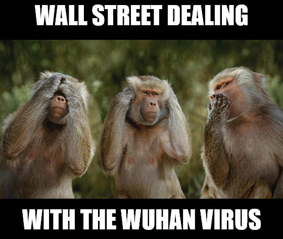 Welcome to Wall Street, where the corporate earnings reactions are made up … and the coronavirus doesn't matter.