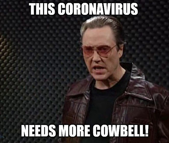 "Today, we leave coronavirus fear behind. We say to the doom-and-gloom financial media: ""Get behind me, Satan!"""