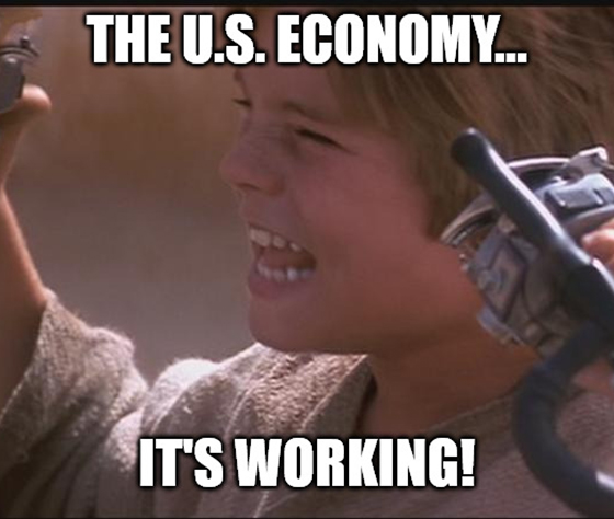 The latest U.S. private payrolls data are in, and the economy is looking stronger than ever! (If you judge things solely on jobs data, that is.)