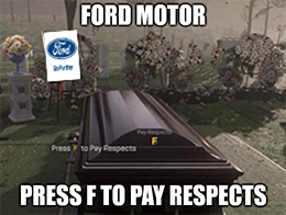 Have you cratered a Ford (F) lately?