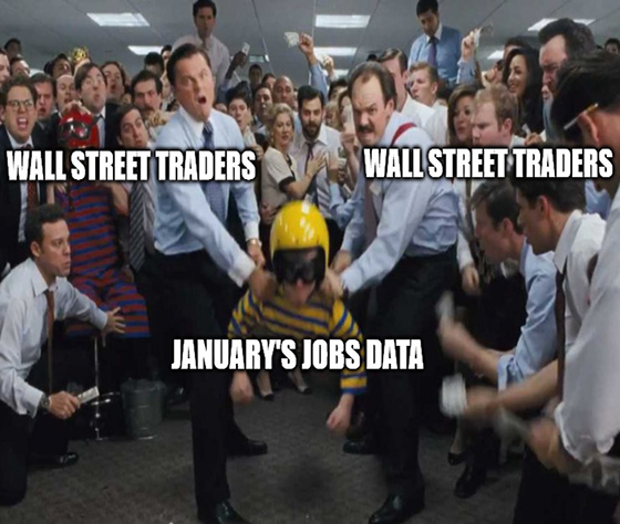 """It was supposed to be a beautiful day in the neighborhood, but Wall Street was hoping for a little less """"beautiful"""" on the jobs front."""