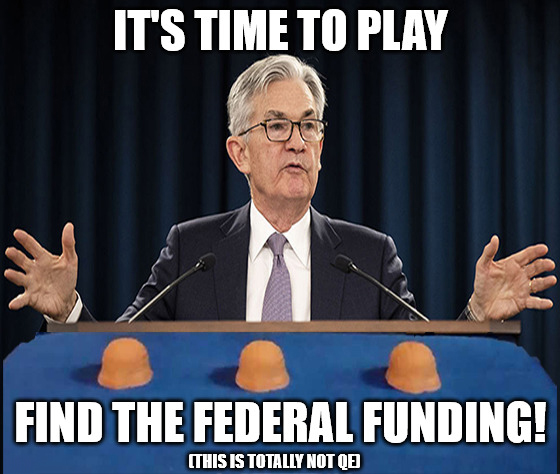 Jerome Powell doesn't believe in directly funding the U.S. government, which is interesting when you consider that's exactly what he's doing.