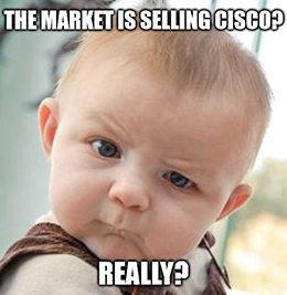 Cisco Systems is getting punished today, and I don't think it's because of the company's earnings report.