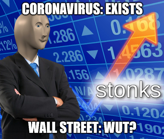 I can't believe that I — the guy making financial memes— had to be the one to sound the warning, but that's where we are in this market.