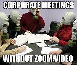 Zoom Video (ZM) is among the few gaining ground amid today's virus sell-off because it allows all those corporate meetings to still take place remotely — lucky you.