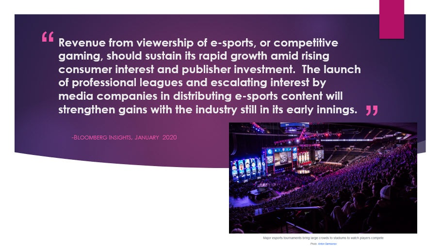 E-Sports Quote with photo