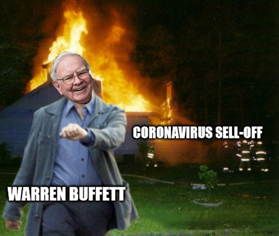 The coronavirus market sell-off might be good for Buffett, but you're not a billionaire. You need a different plan, and Great Stuff has it!