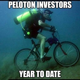 I want to ride it where I like … not in my living room. That's the message that Wall Street is sending Peloton Interactive Inc. (Nasdaq: PTON) this week.