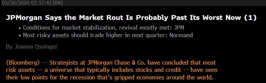 JP Morgan Chase Headline