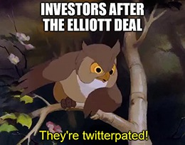 Elliott Management strikes a deal with Twitter Inc. (NYSE: TWTR), and investors are twitterpated.
