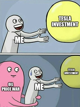 Tesla Inc. (TSLA) is down, but certainly not out after the oil wars start.