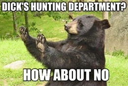No hunting department, no problem at Dick's Sporting Goods Inc. (DKS).