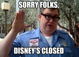 I never thought I'd see the day when The Walt Disney Co. (NYSE: DIS) closed all its parks at once.