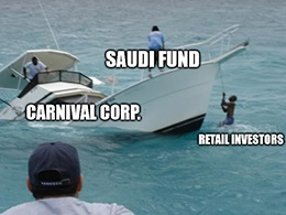 Carnival Corp. (NYSE: CCL) should've been, could've been, would've been dead … if the Saudis hadn't come to the rescue.