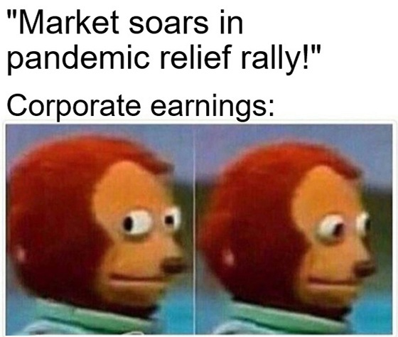 """Earnings season headlines promote a feeling of """"everything's OK"""" … but a darker message lies just beneath the surface."""