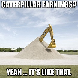 U.S. economic bellwether, Caterpillar Inc. (NYSE: CAT) just released one of the worst quarterly financial reports of the season.