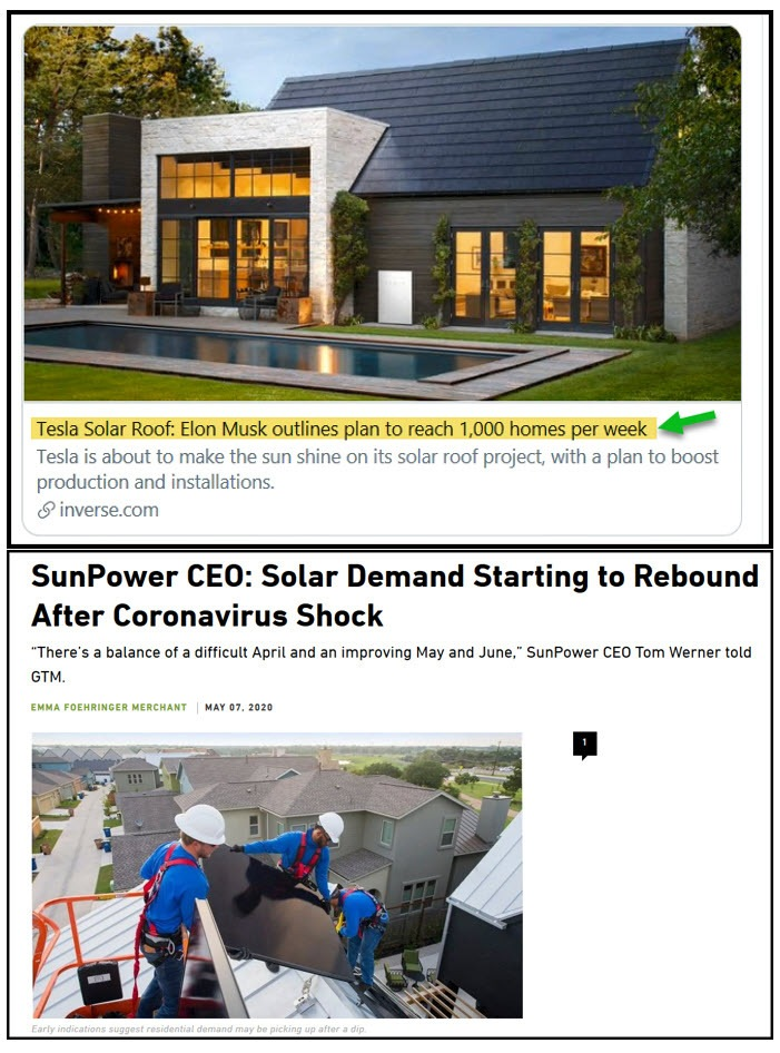 Tesla solar headlines 2020