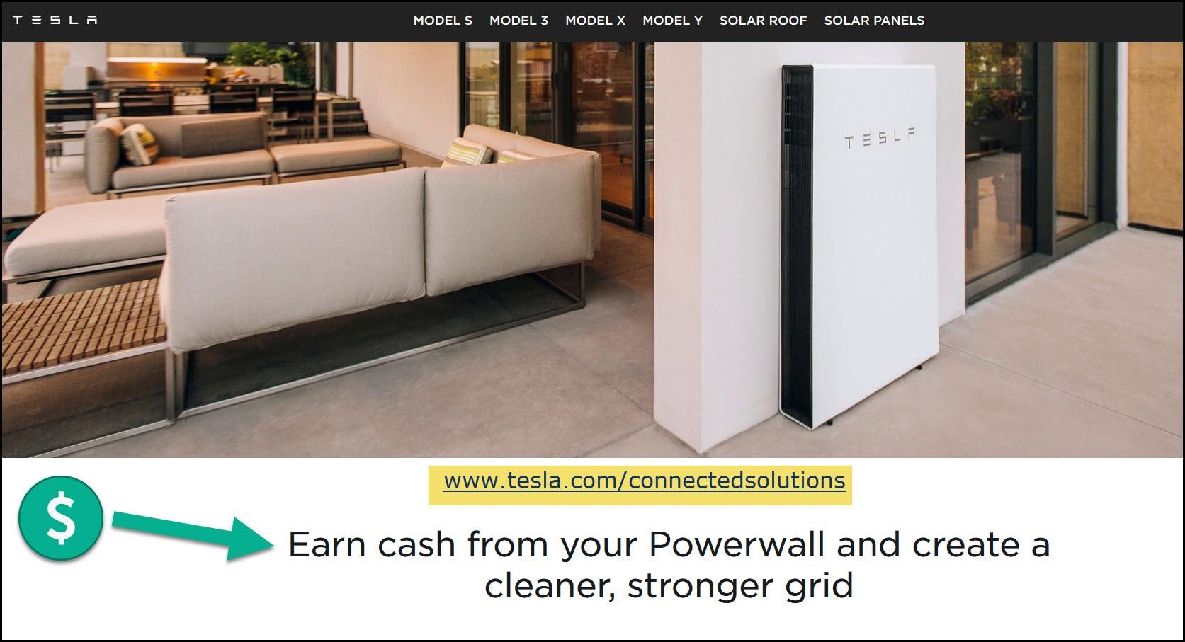 Tesla Earn Cash From Powerwall