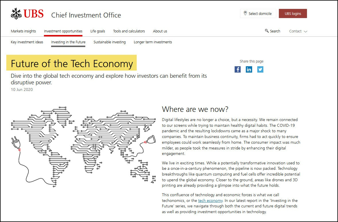 UBS Tech Website