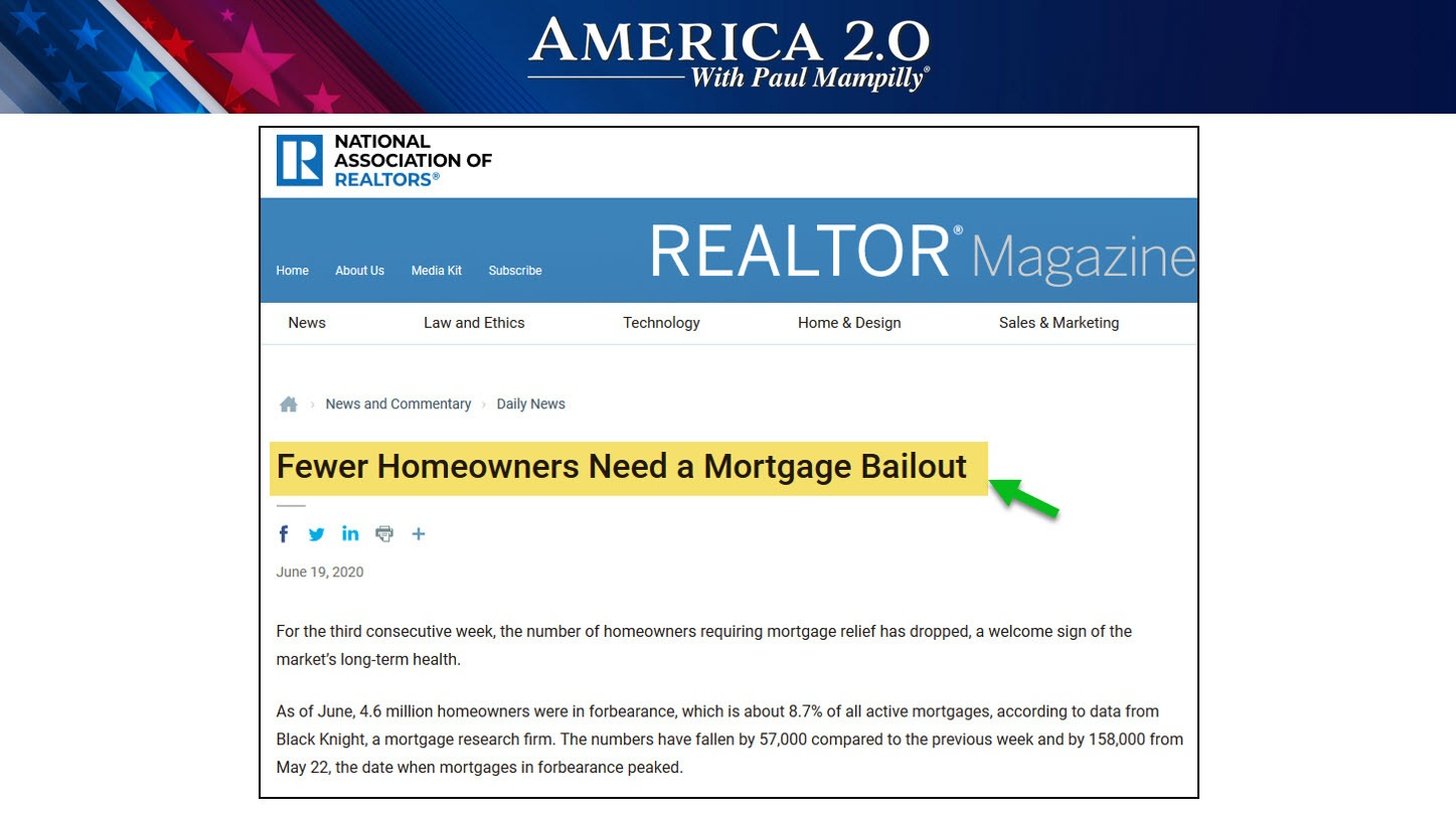 June 2020 Mortgage Bailouts America 2.0