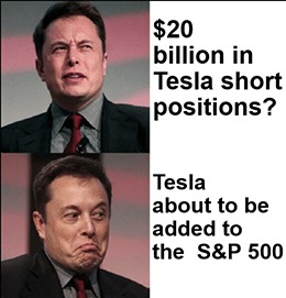 Tesla's on the verge of joining the S&P 500. All the company needs to do is report a profit for four consecutive quarters.