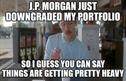 This morning, J.P. Morgan downgraded MRNA from overweight to neutral due to valuation concerns.
