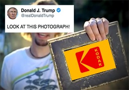 Using the Defense Production Act, Trump authorized a $765 million loan to Kodak.
