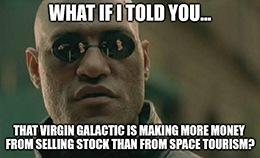 After its recent quarterly report, Virgin Galactic Holdings Inc. (Nasdaq: SPCE) still has no revenue.