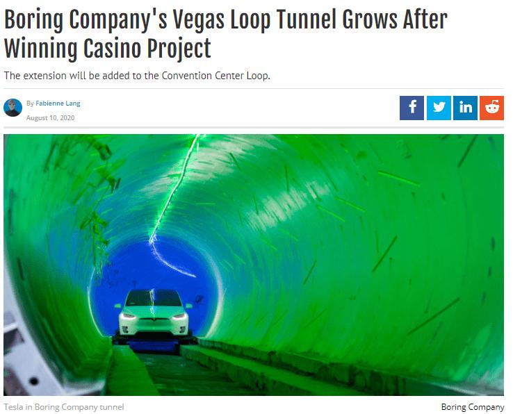 boring company vegas loop tunnel