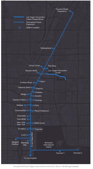 boring company vegas loop tunnel map
