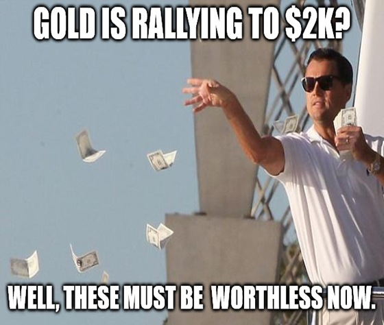 Still looking for market lollipops and investment teddy bears? It's past time you got cold with gold.