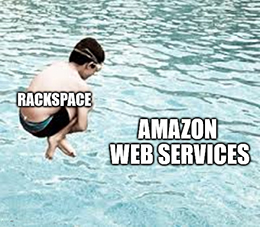 Rackspace helps companies move to Google Cloud, Microsoft Azure, VMWare and Amazon Web Services (AWS).