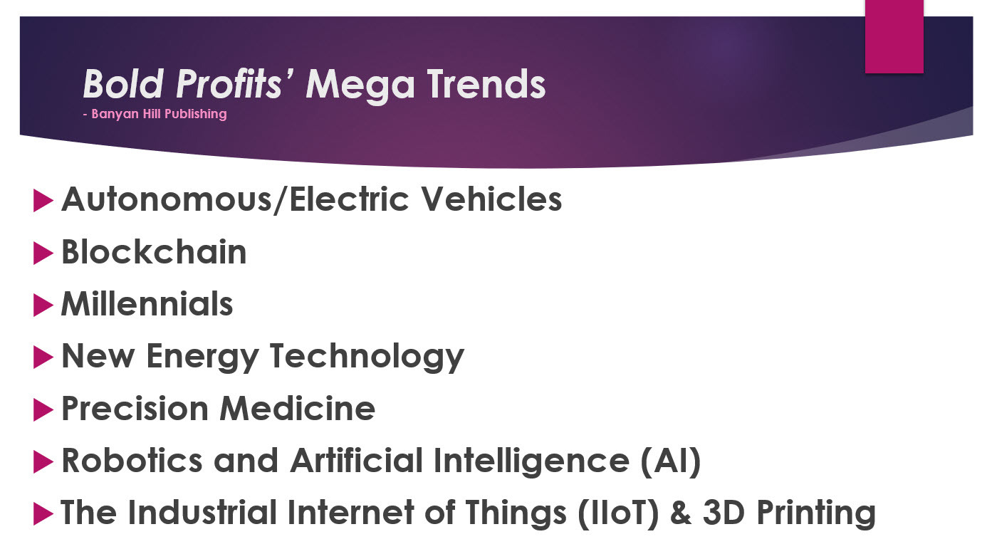 Bold Profits Mega Trends August 2020