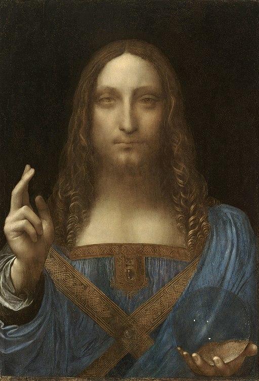 Image of Da Vinci's Salvator Mundi painting