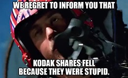 According to the Kodak-appointed firm that investigated Kodak, Kodak didn't break the law. The company was just stupid.