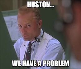 Huston, we have a problem with a lack of Fed stimulus.