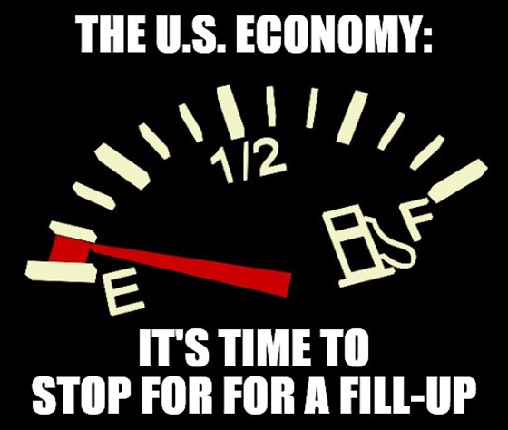 It's time for your U.S. economy reality check! So, crank up the Jackson Browne, 'cause Main Street's running on empty.